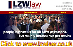 Landau Zeffertt Weir, solicitors - UK Immigration Lawyers in London UK - sample portion of website graphic